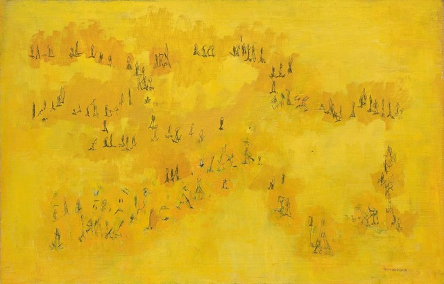 , 'Yellow Figures,' 1965, Michael Rosenfeld Gallery