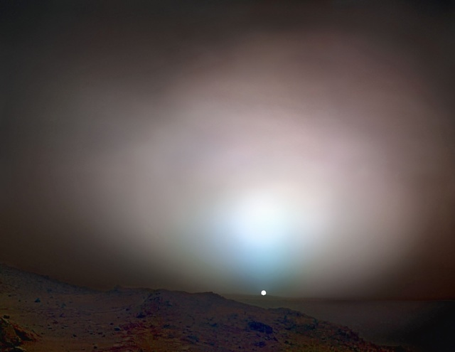 , 'Sunset on Mars, Spirit Rover, May 19, 2005,' 2012, Flowers