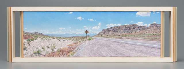 , 'A Distant View of Great Basin National Park, Nevada from the Confusion Range, Utah, US Highway 50,' 2014, Valley House Gallery & Sculpture Garden