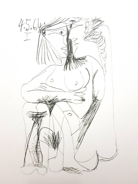 """Pablo Picasso, 'Lithograph """"Le Goût de Bonheur"""" after Pablo Picasso', 1970, Galerie Philia"""
