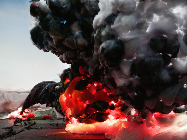 , ' Explosion with Road,' 2012, Rosenfeld Gallery