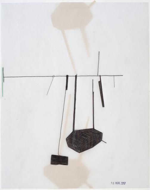 , 'Stange 2 mal geträumt , stamped 19. Nov 2017,' 2017, Galerie Heike Strelow