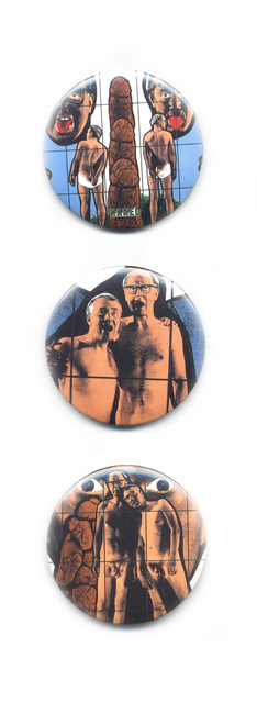 , 'Human, Open Mouths, Naked Buttons from Shitty Naked Human World Series,' ca. 1994, Alternate Projects