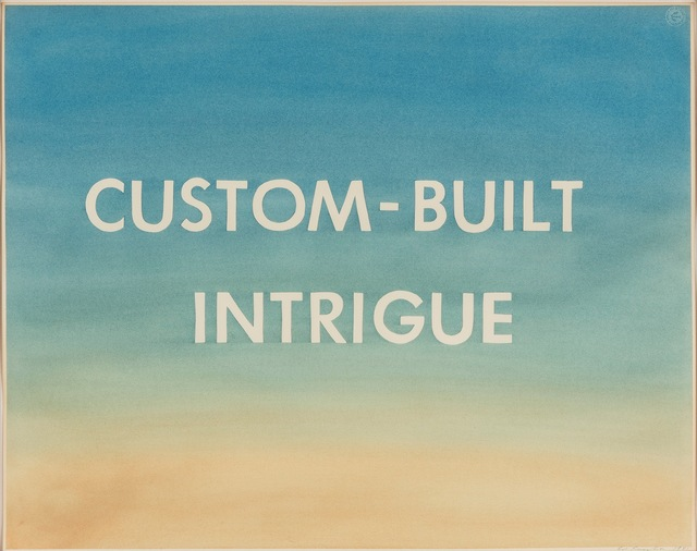 , 'Custom-Built Intrigue,' 1981, Gagosian