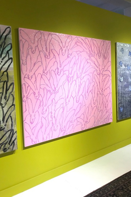 , 'Field of Pink Bunnies on Diamond Dust,' 2018, DEAN PROJECT