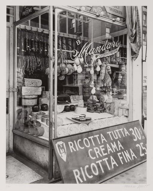Berenice Abbott, 'Italian cheese store. 276 Bleecker Street, Manhattan', 1937, Doyle