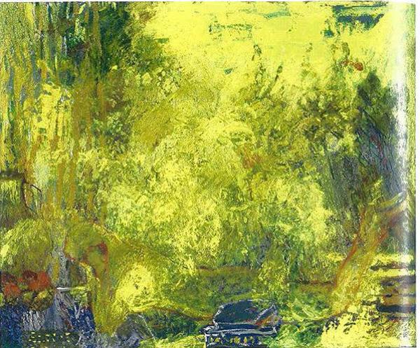 Fatima El Hajj, La Lecture, 2008, Oil on canvas, 100 x 120 cm