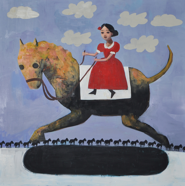 , 'Funny Horses,' 2017, Blue Rain Gallery