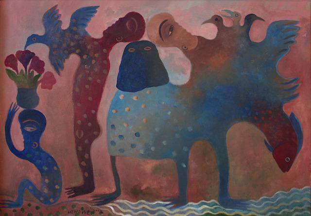 Manuel Mendive, 'Búcaro con flores', 2009, Galería Artizar