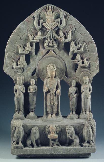 , 'Guanyin (Five-Bodhisattva) Statue,' 550-577, China Institute Gallery