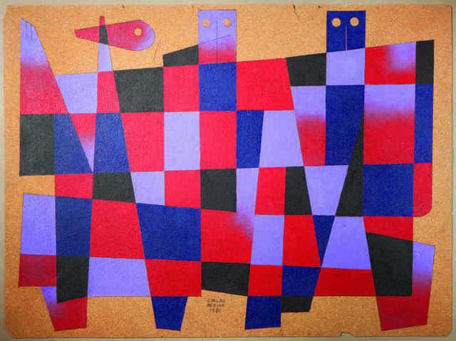 Carlos Merida, ' Composition aux personnages', 1981, Galerie Céline Moine & LGFA