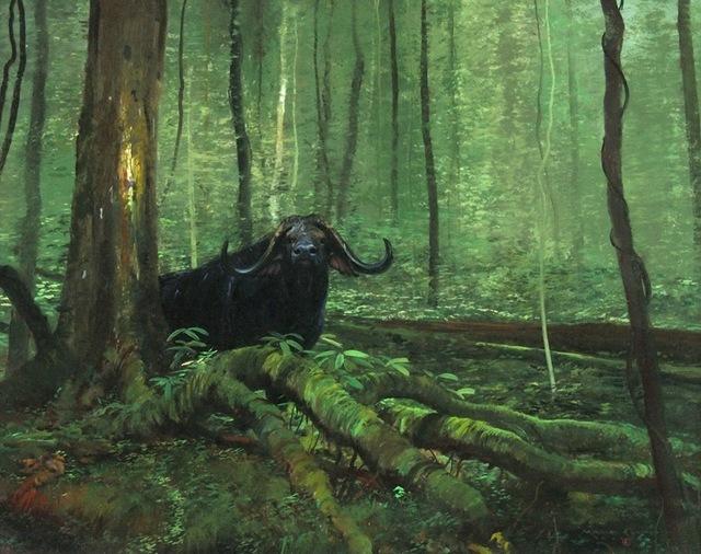 , 'Jungle Cape Buffalo,' , Trailside Galleries