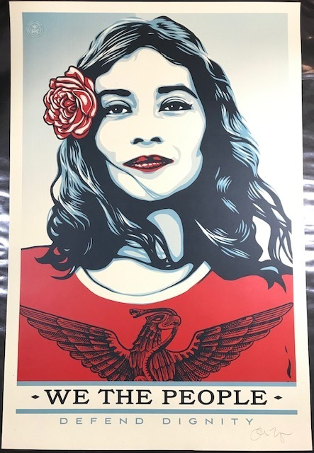 "Shepard Fairey, '""We The People""  Defend Dignity ', 2017, New Union Gallery"