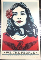 """Shepard Fairey, """"We The People""""  Defend Dignity"""