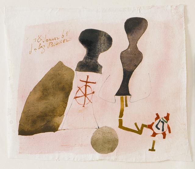 , '18. Januar 61,' 1961, Galerie Schlichtenmaier