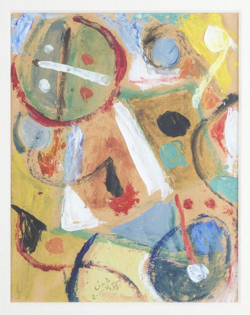 , 'Juego con lineas y colores, 2-11-1955,' 1955, Hutchinson Modern