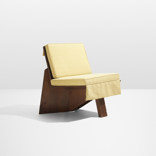 Awesome Frank Lloyd Wright Lounge Chair From The George Sturges Theyellowbook Wood Chair Design Ideas Theyellowbookinfo