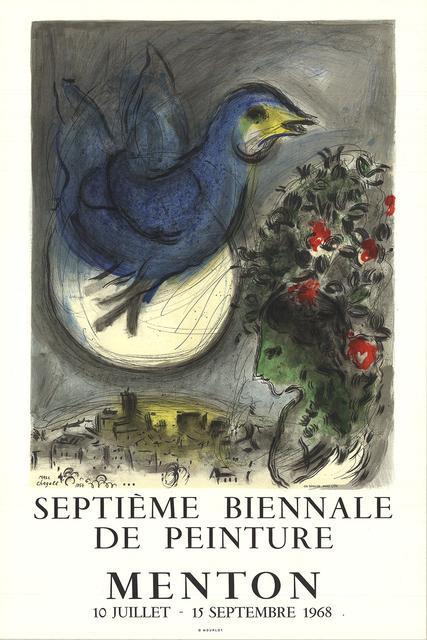 Marc Chagall, 'The Bluebird (L'Oiseau Bleu)', 1968, Print, Color Lithograph, ArtWise