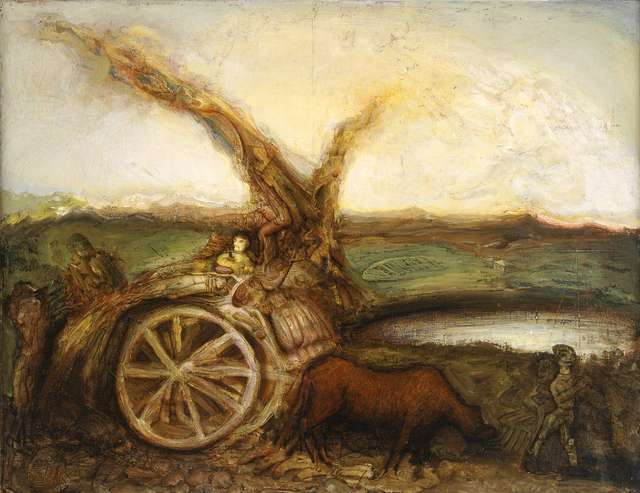 Gregory Gillespie, 'Landscape with Cart ', 1992, Forum Gallery