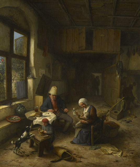 , 'The Interior of a Peasant's Cottage ,' 1668, Royal Collection Trust