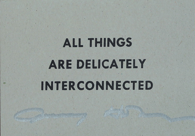, 'All Things Are Delicately Interconnected, SIGNED ,' 2015, Alternate Projects