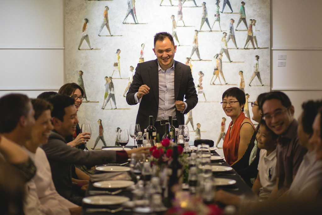 Opening Speech by gallery co-founder, Loh Weiren, to initiate the start of the dinner reception attended by the artist.