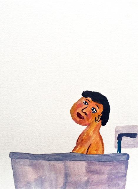 , 'Men in Bath 1,' 2015, Childs Gallery