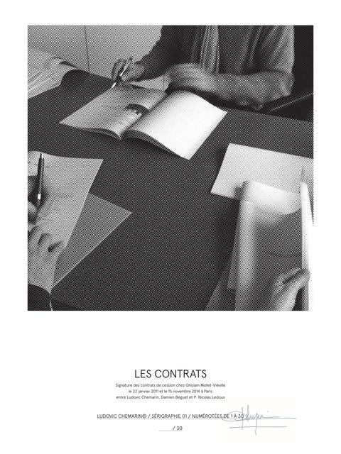 , 'Les contrats,' 2015, mfc - michèle didier