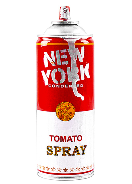 Mr. Brainwash, 'NEW YORK SPRAY CAN (Silver)', 2016, Sculpture, Metal can with Original New York label and Silver Paint, Silverback Gallery