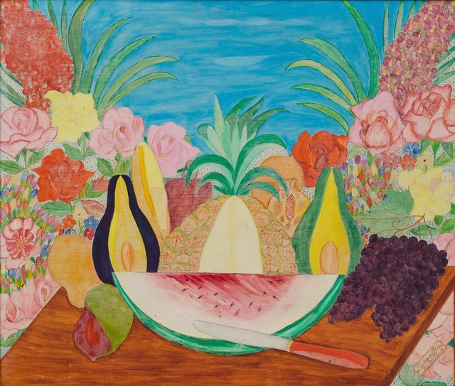 , ' Untitled (Still Life of Fruit & Flowers)  ,' dated 1959, ZQ Art Gallery