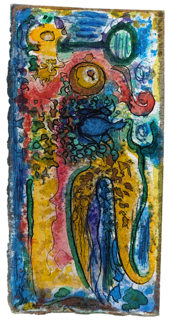 Richard Pousette-Dart, 'Blue Swan', ca. 1950, Drawing, Collage or other Work on Paper, Watercolor, ink, and ballpoint pen on paper, Hollis Taggart