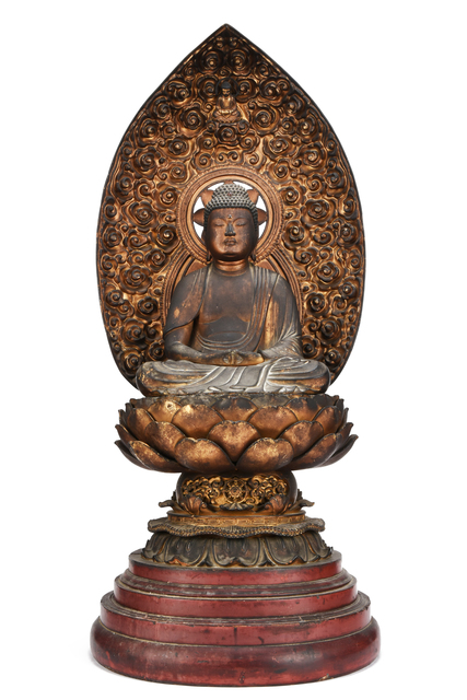NON NAME, 'Statue of Buddha  18 0799', ca. 1800~, Sculpture, Wood, Yumekoubou Antique