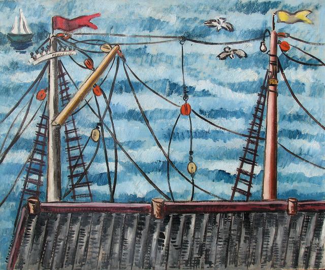 , 'Masts,' ca. 1934-35, Caldwell Gallery Hudson