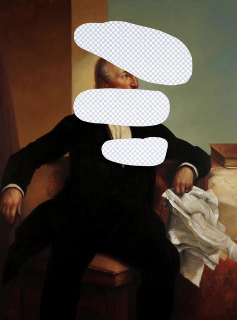 , 'Disagree to Disagree (John Tyler, White House Art Collection Erasure No. 21),' 2018, Modernism Inc.