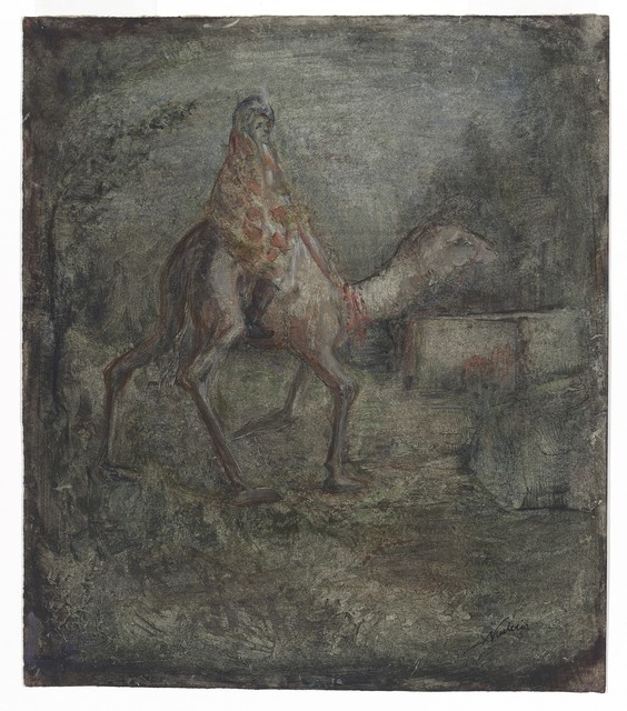 , 'Camel Rider,' ca. 1905, W&K - Wienerroither & Kohlbacher