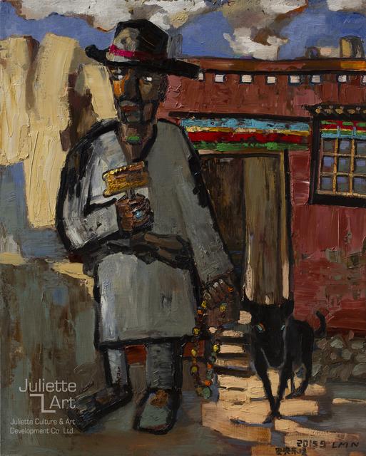 Liu Maonian, 'Old Man and Dog', 2015, Juliette Culture and Art Development Co. Ltd.
