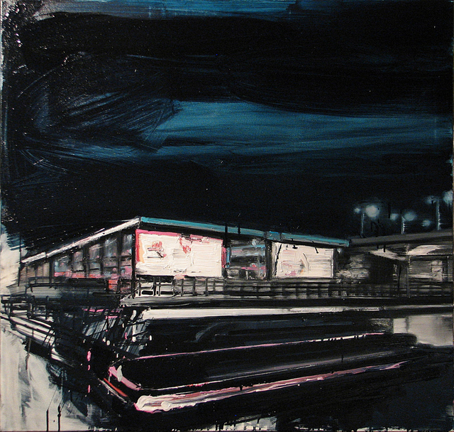 , 'Mooring light lines on railway stations,' 2015, Galerie Sandhofer