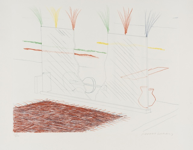 David Hockney, 'On it May Stay His Eye (from The Blue Guitar) (M.C.A. Tokyo 194)', 1976-77, Forum Auctions