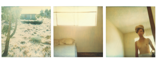 Stefanie Schneider, 'Blue House (triptych) - Contemporary, 21st Century, Polaroid, Figurative Photography, Nude', 1998, Photography, Analog C-Prints, hand-printed by the artist, based on 3 Stefanie Schneider expired Polaroid photographs, mounted on Aluminum with matte UV-Protection, Instantdreams