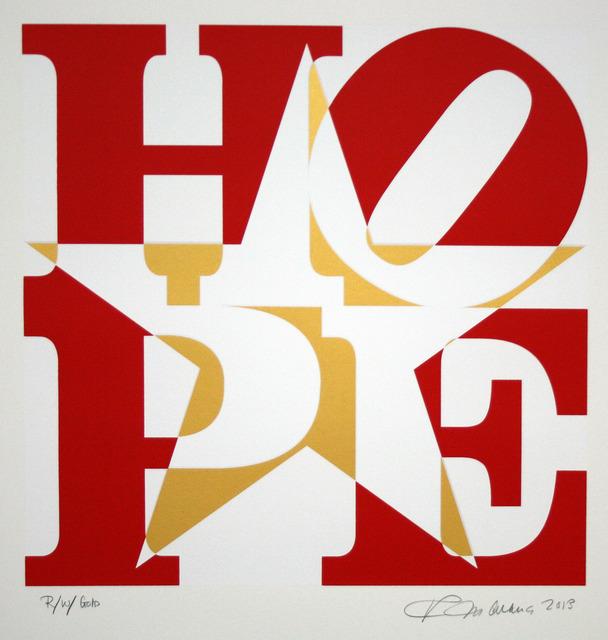 , 'Star of HOPE, R/W/Gold (Red/White/Gold),' 2013, Rosenbaum Contemporary