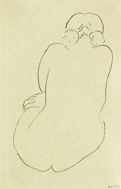 , 'Nu assis, vu de dos,' 1913, Bernard Jacobson Gallery