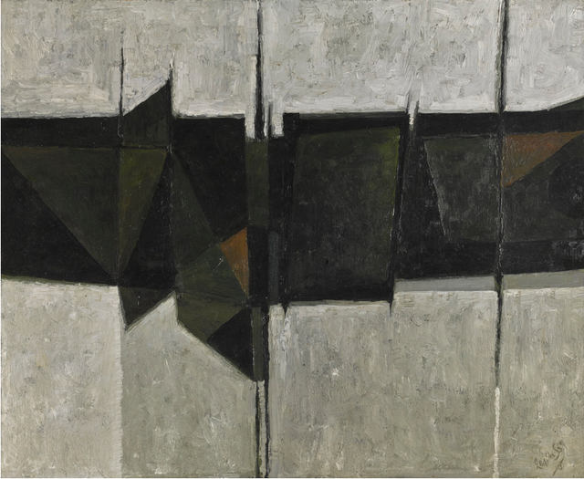 , 'Abstract: Green, Black and Grey,' 1959, Annely Juda Fine Art