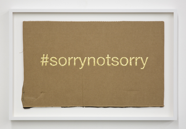 Christine Wang, '#sorrynotsorry', 2016, Night Gallery
