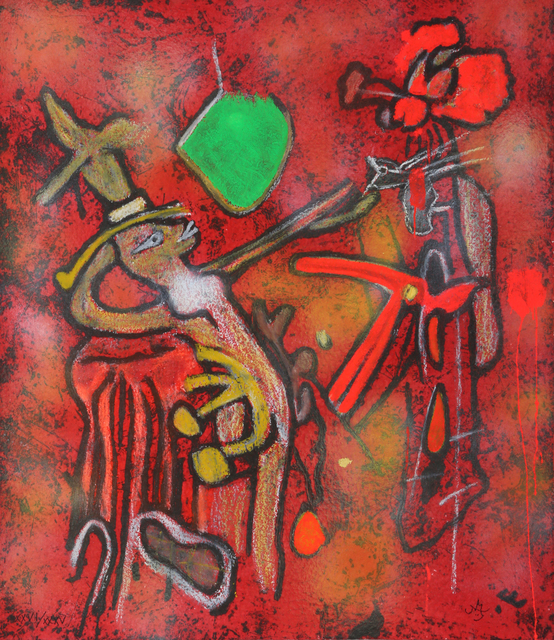 Roberto Matta, 'The Eld of the World', 2002, Print, Carborundum etching printed in colors, with hand-coloring in pastel and gouache on Hand-Made Paper, Artsy x Rago/Wright