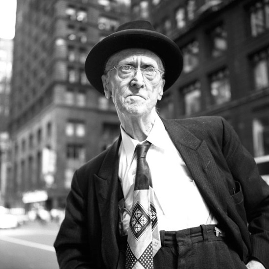 """Vivian Maier, '0131521 - Untitled, n.d, Old Man with Tie, 12"""" X 12""""', Printed 2017, KP Projects"""