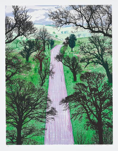 David Hockney, 'Winter Road Near Kilham', 2008, Phillips