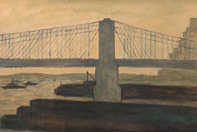 , 'Brooklyn Bridge IV,' ca. 1950, Gerald Peters Gallery