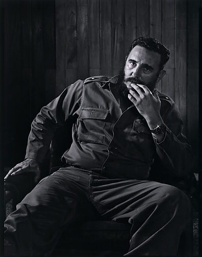 , 'Fidel Castro (seated facing front),' 1941-printed later, Scott Nichols Gallery