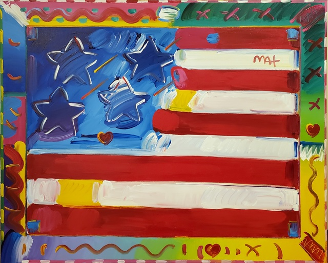 , 'Flag with Heart,' 2014, Off The Wall Gallery