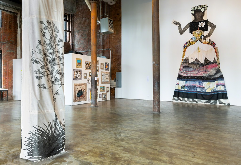 Paula  Wilson, Spread  Wild:  Pleasures  of  the  Yucca, September  29–November  4,  2018 Installation  view courtesy  of  Smack  Mellon. Photo  by  Etienne  Frossard.